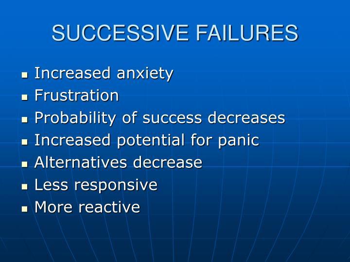 SUCCESSIVE FAILURES