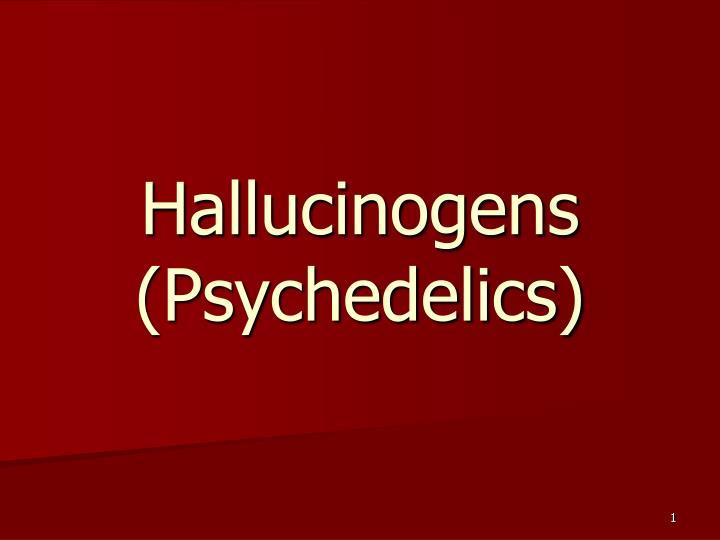 hallucinogens psychedelics