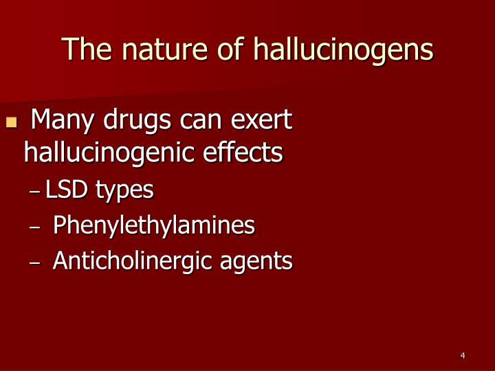 The nature of hallucinogens