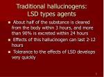 traditional hallucinogens lsd types agents2
