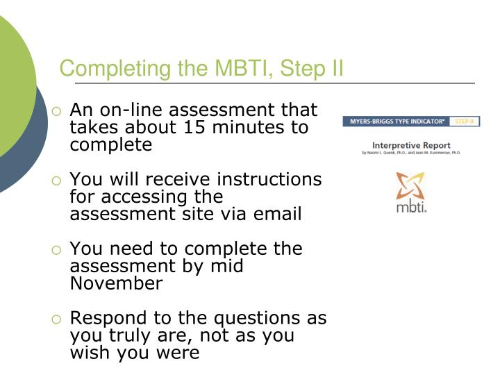 Completing the MBTI, Step II