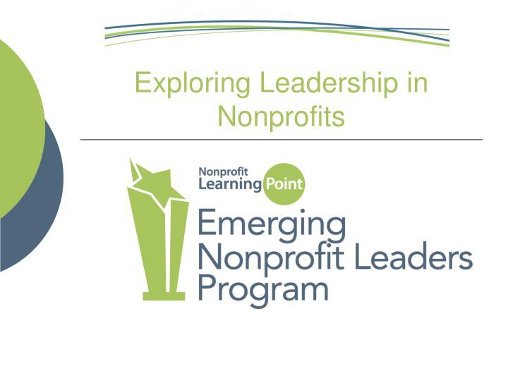 Exploring Leadership in Nonprofits