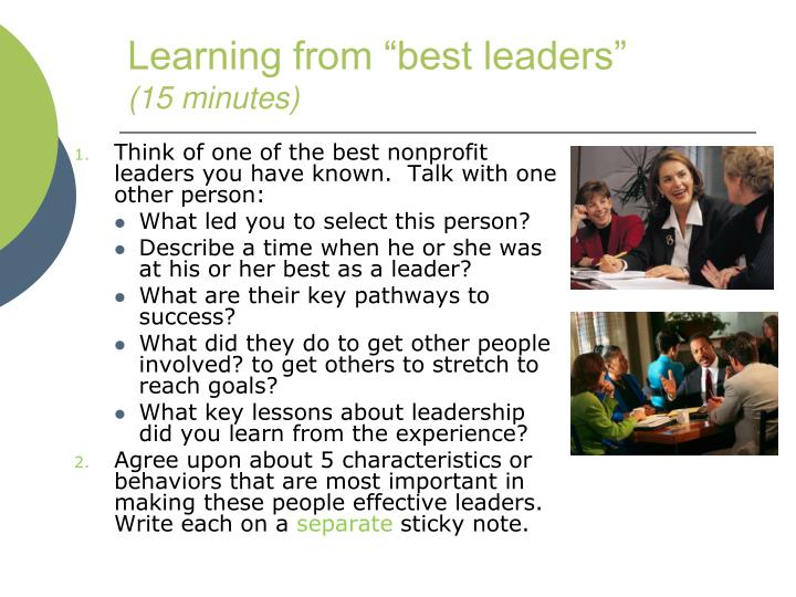 """Learning from """"best leaders"""""""
