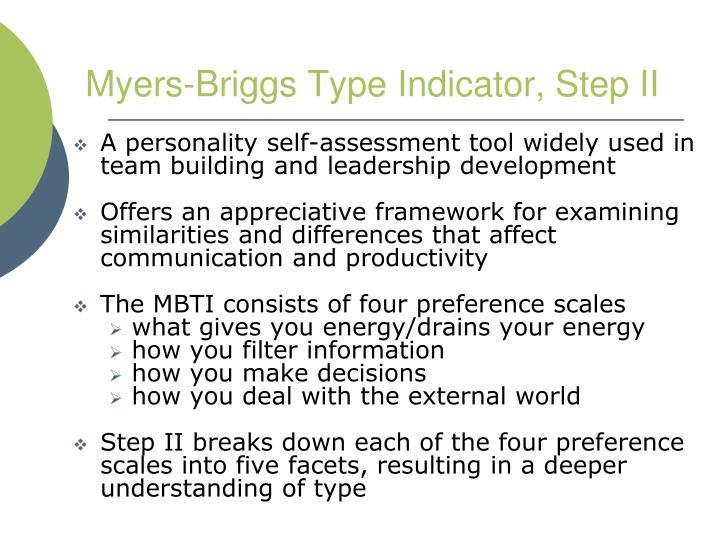 Myers-Briggs Type Indicator, Step II