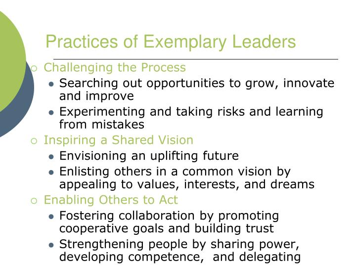 Practices of Exemplary Leaders