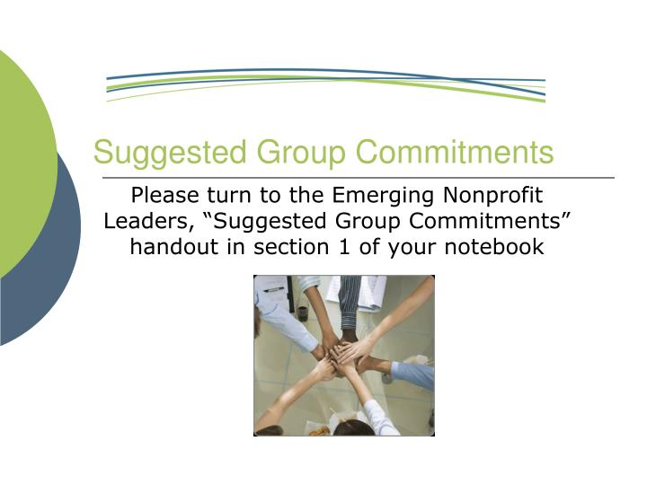 Suggested Group Commitments