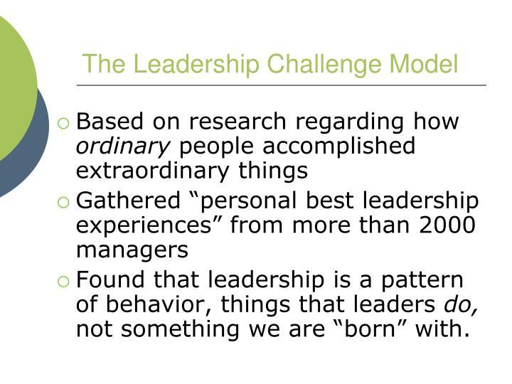 The Leadership Challenge Model