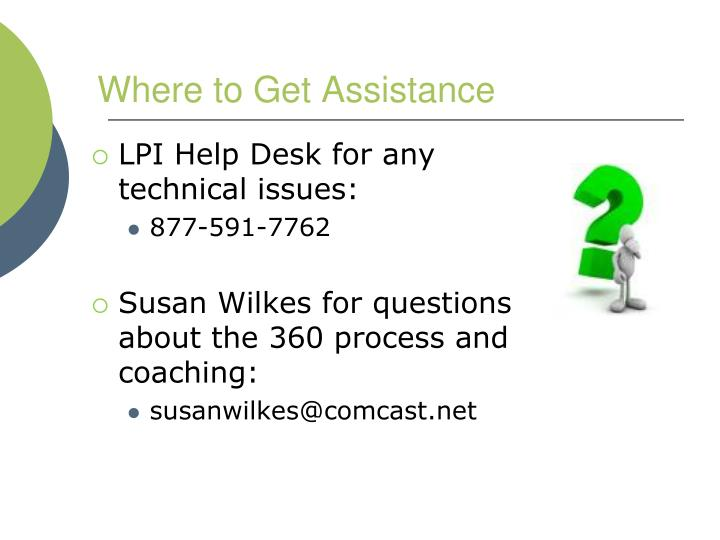 Where to Get Assistance