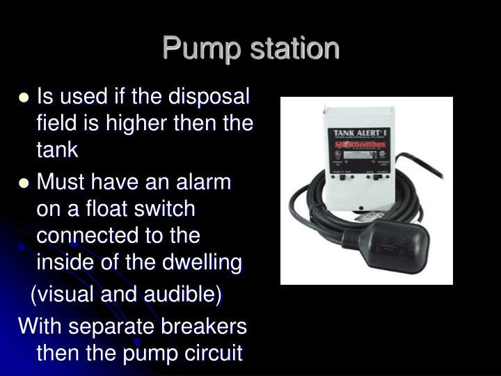Pump station