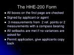 the hhe 200 form