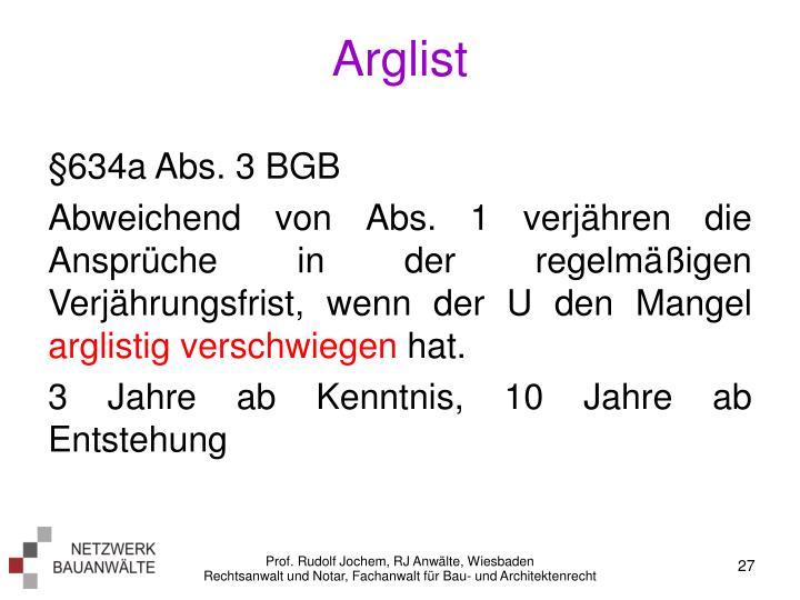 Arglist
