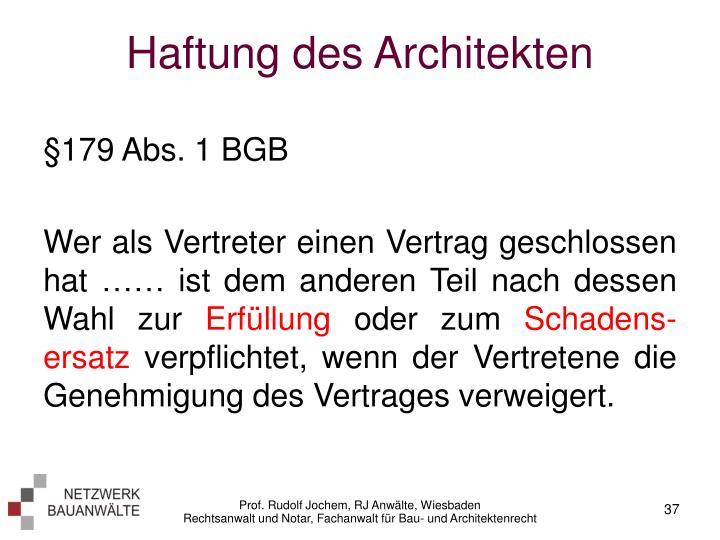 Haftung des Architekten