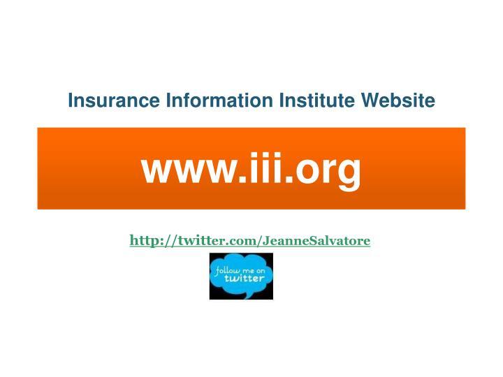 Insurance Information Institute Website