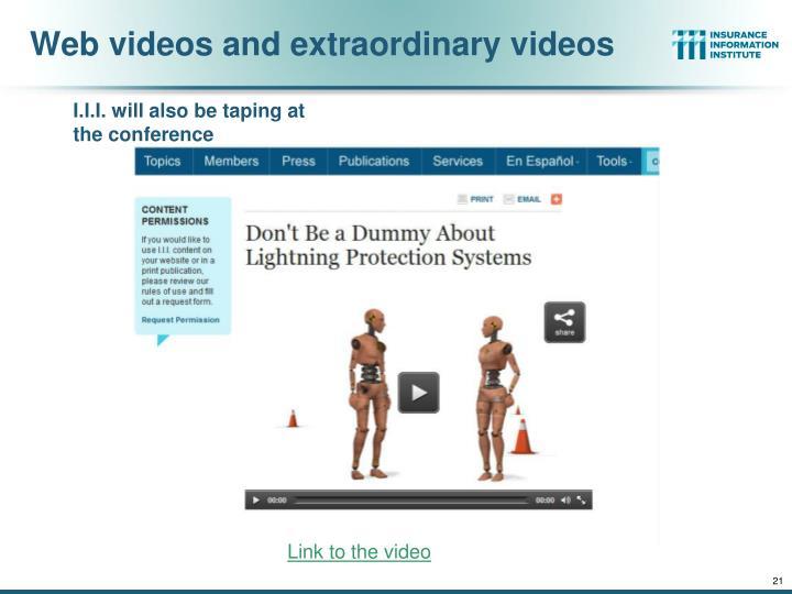 Web videos and extraordinary videos