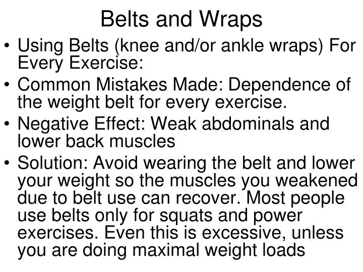 Belts and Wraps