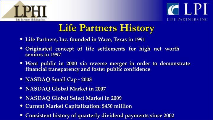Life Partners History