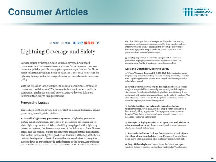 Consumer Articles