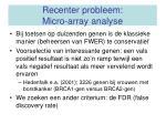 recenter probleem micro array analyse