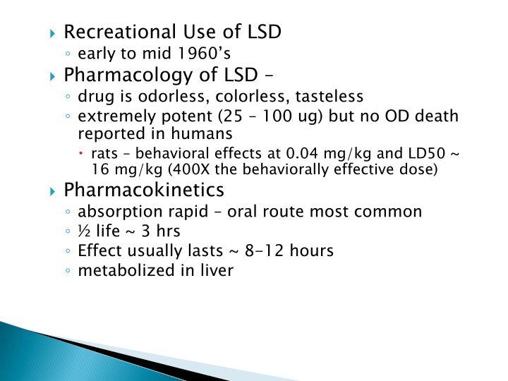 Recreational Use of LSD