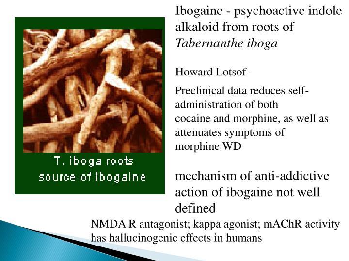 Ibogaine - psychoactive indole
