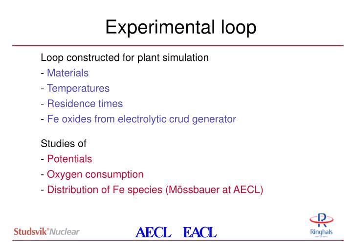Experimental loop