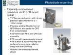 photodiode mounting