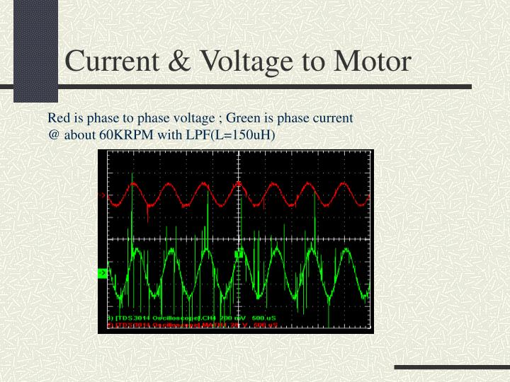 Current & Voltage to Motor