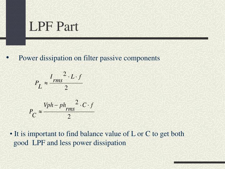 LPF Part