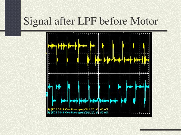 Signal after LPF before Motor