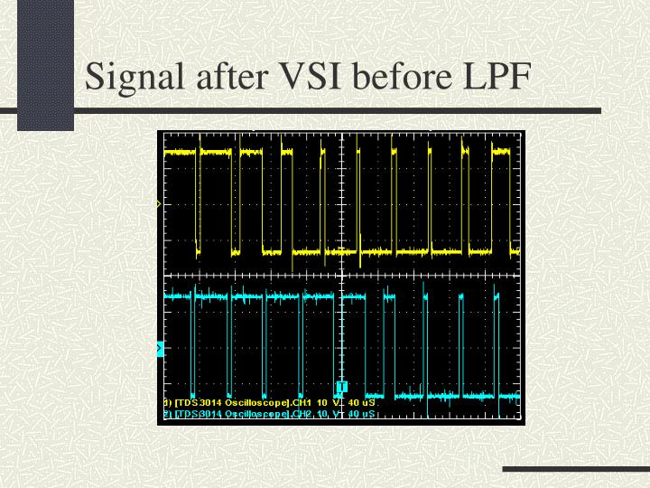Signal after VSI before LPF