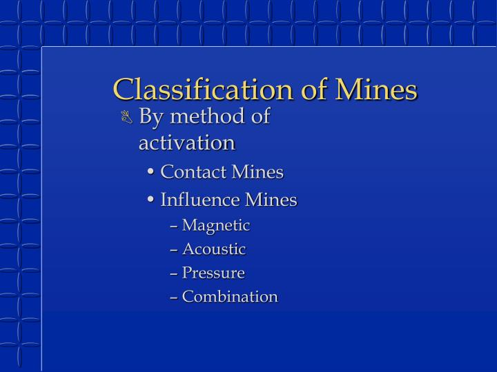 Classification of Mines