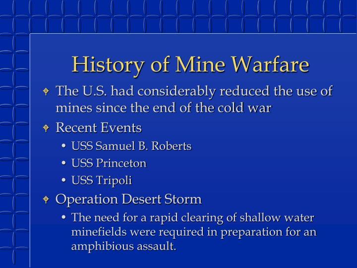 History of Mine Warfare