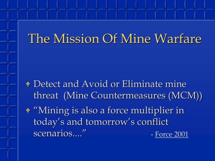 The Mission Of Mine Warfare