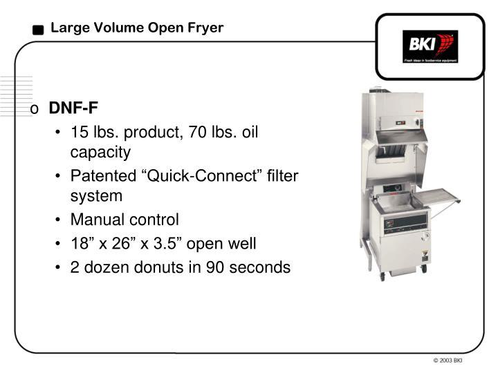 Large Volume Open Fryer