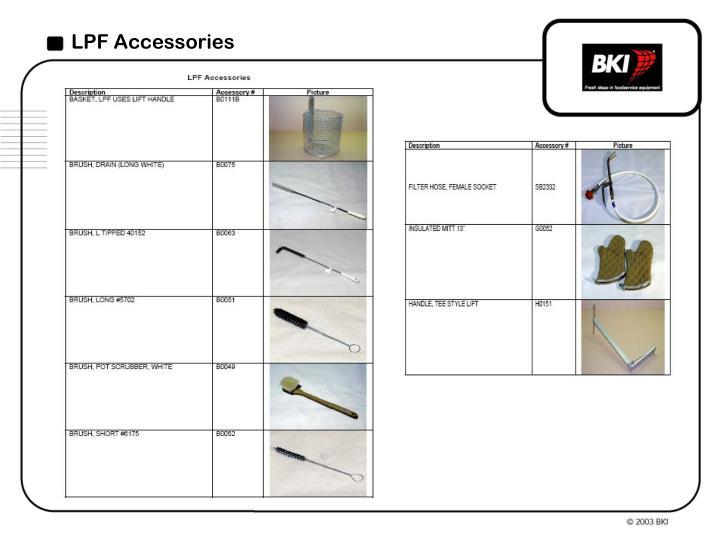 LPF Accessories