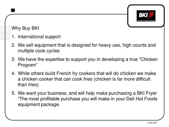 Why Buy BKI