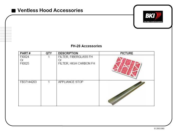 Ventless Hood Accessories