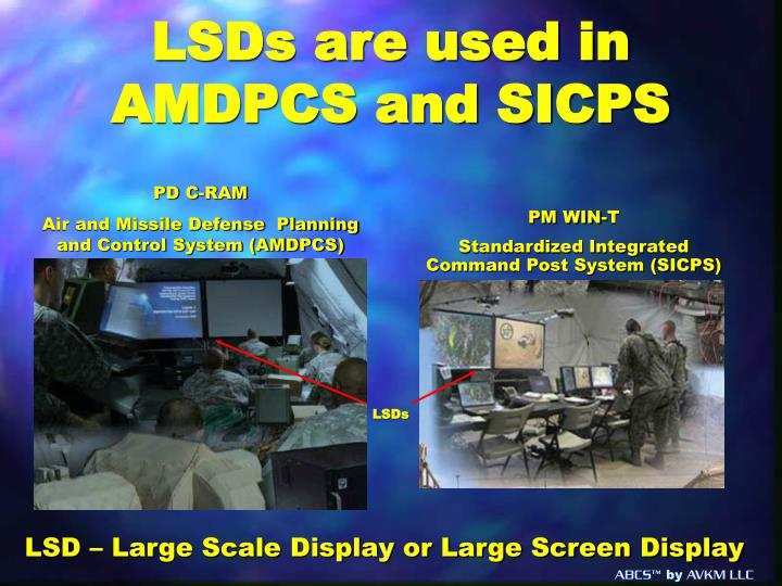 LSDs are used in AMDPCS and SICPS