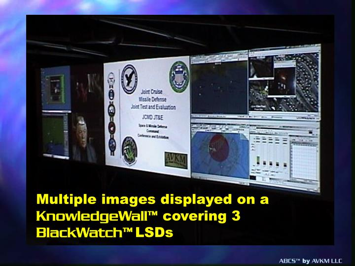 Multiple images displayed on a