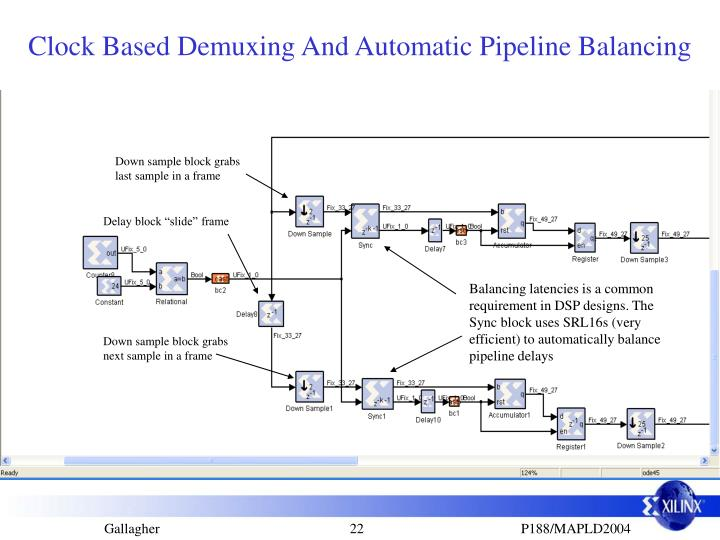 Clock Based Demuxing And Automatic Pipeline Balancing