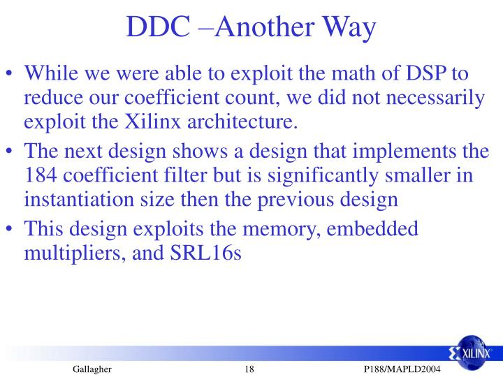 DDC –Another Way