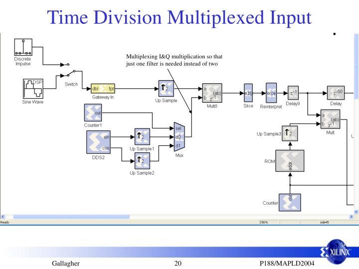 Time Division Multiplexed Input
