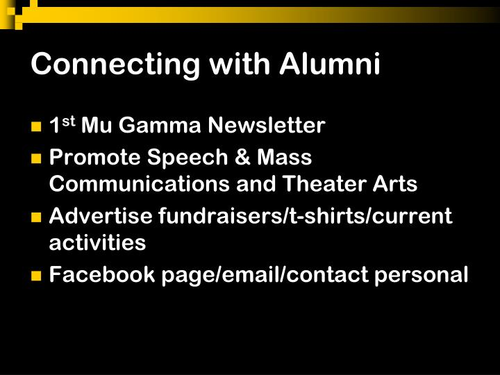 Connecting with Alumni