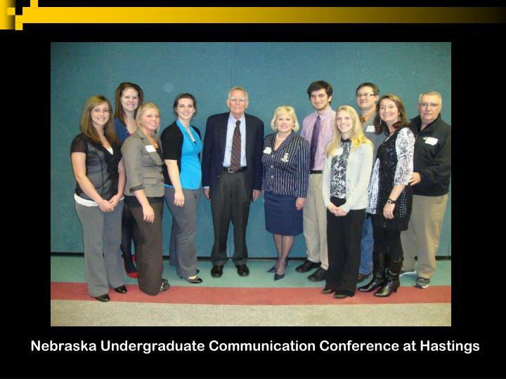 Nebraska Undergraduate Communication Conference at Hastings