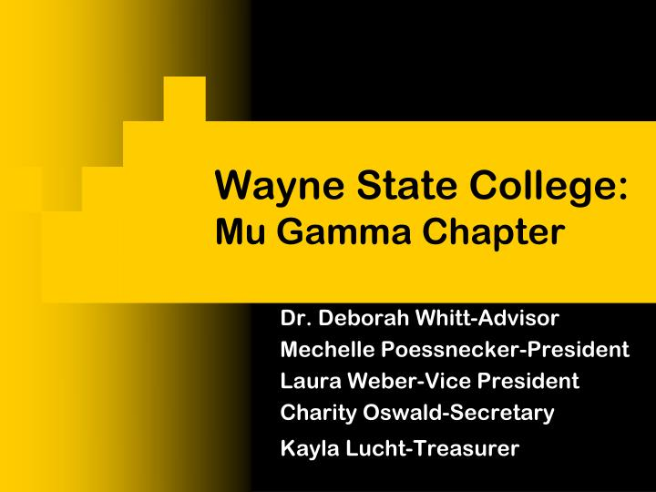 Wayne State College:
