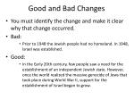 good and bad changes