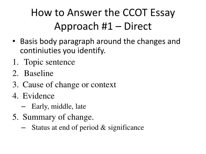 How to Answer the CCOT Essay