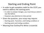 starting and ending point