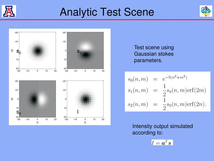 Analytic Test Scene