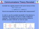 communications theory revisited